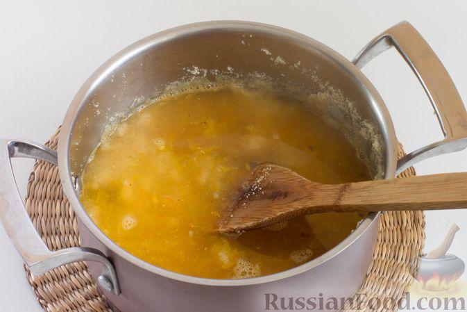 Фото приготовления рецепта: Мандариновая халва из манки - шаг №7