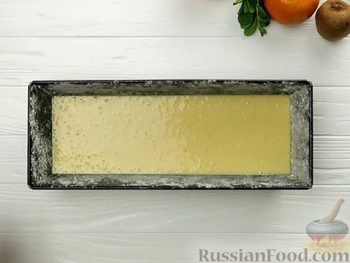Фото приготовления рецепта: Апельсиновый кекс под сладким соусом - шаг №7