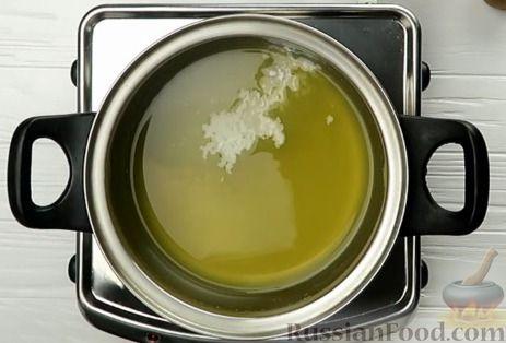 Фото приготовления рецепта: Апельсиновый кекс под сладким соусом - шаг №9