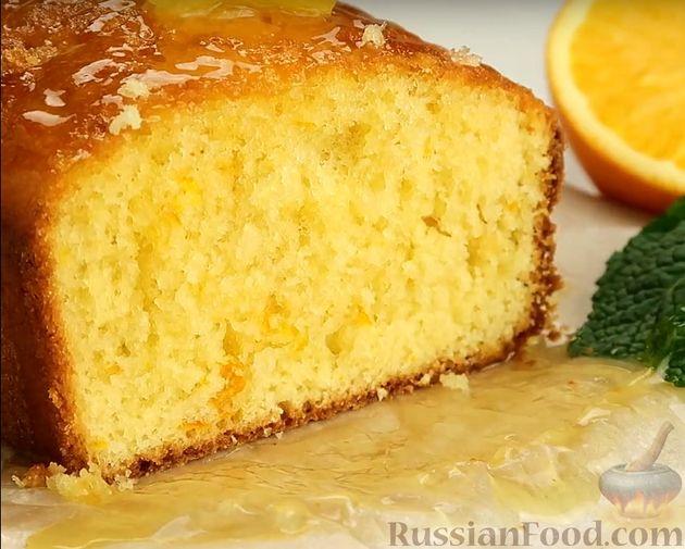 Фото приготовления рецепта: Апельсиновый кекс под сладким соусом - шаг №13