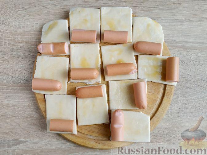 Фото приготовления рецепта: Песочное печенье с яблочной начинкой - шаг №4