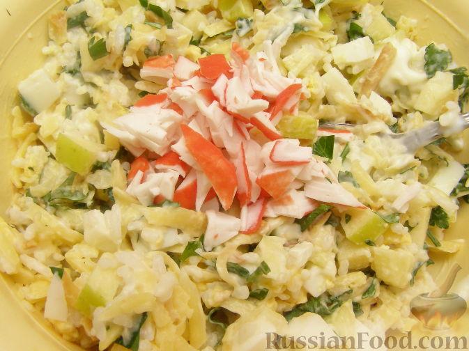 морская звезда салат из крабовых палочек фото рецепт