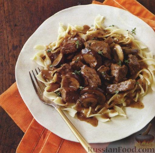 Рецепт Лапша с мясным соусом
