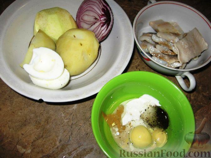 Фото приготовления рецепта: Датский салат из сельди - шаг №1