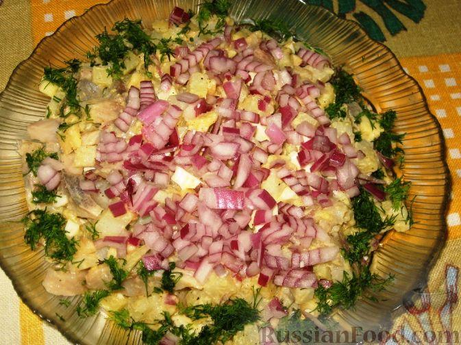 Фото приготовления рецепта: Датский салат из сельди - шаг №3