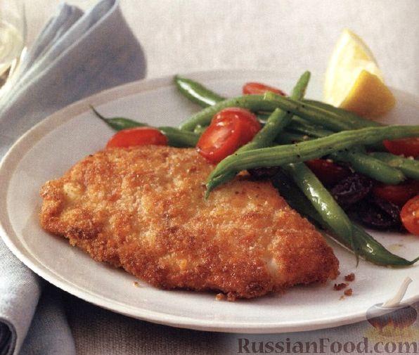 Рецепт Индюшиное филе с салатом из стручковой фасоли