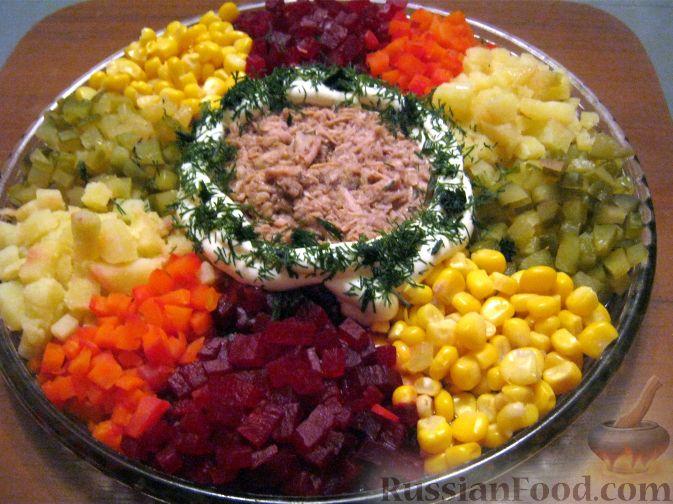 Салат с тунцом консервированной рецепт