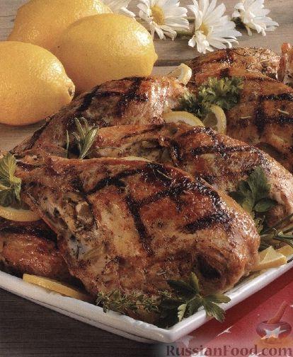 Рецепт Куриные бедра, жаренные на гриле