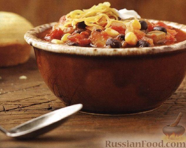 Рецепт Овощное рагу с фасолью и кукурузой