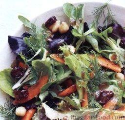 Рецепт Салат с нутом и сушеными вишнями