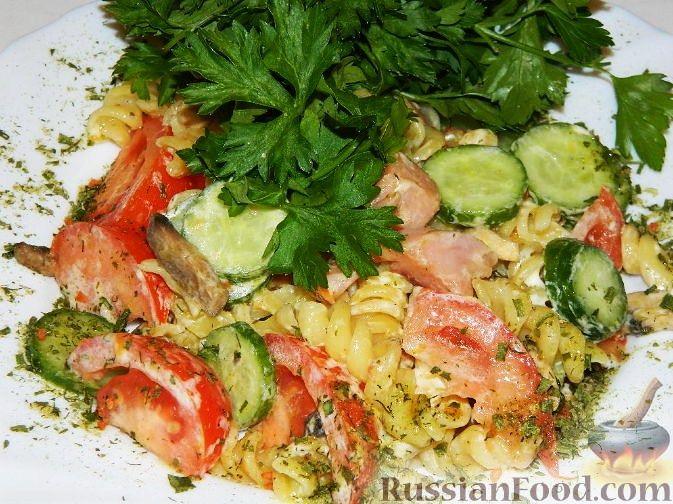 Рецепт Макаронный салат с ветчиной
