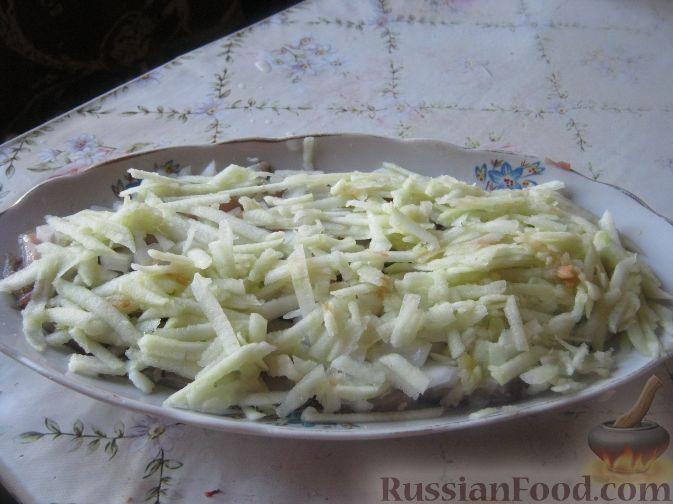 салат шуба пошаговый рецепт с фото с яблоками