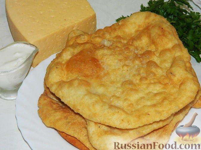 Рецепт Лангош - венгерская лепешка
