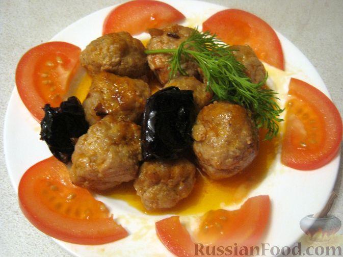 Рецепт Тефтели в кисло-сладком соусе с черносливом