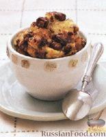 Фото к рецепту: Хлебный пудинг с изюмом