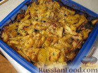 Фото приготовления рецепта: Скумбрия с картофелем, запеченные под майонезом - шаг №9