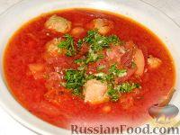 Фото к рецепту: Сибирский борщ с фрикадельками