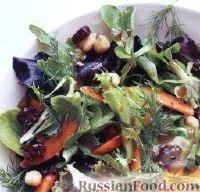 Фото к рецепту: Салат с нутом и сушеными вишнями