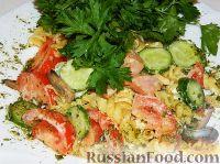 Фото к рецепту: Макаронный салат с ветчиной