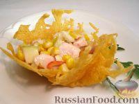 Фото к рецепту: Тарталетки сырные