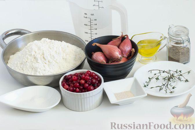Фото приготовления рецепта: Фокачча с луком и клюквой - шаг №1