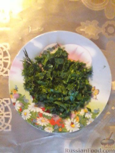 Фото приготовления рецепта: Рулетики из теста фило, с мясом, сыром и зеленью - шаг №11