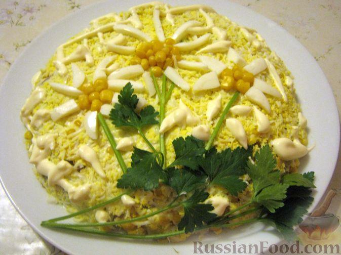 Салат с печенью куриной ромашка