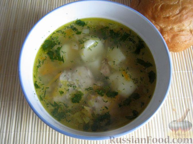 Фото приготовления рецепта: Рыбный суп из консервов - шаг №11