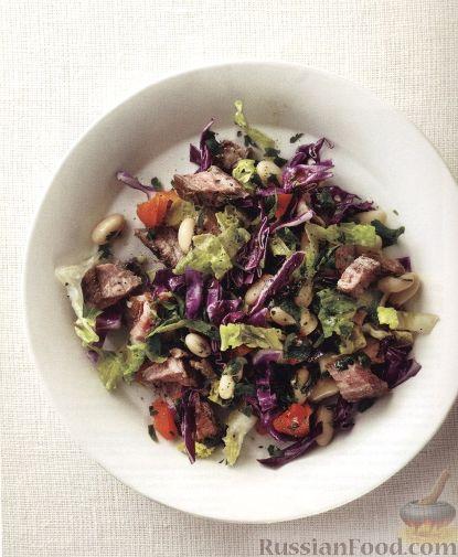 Рецепт Салат с жареной говядиной