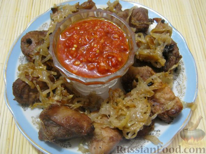 Рецепт Шашлык из свинины в духовке