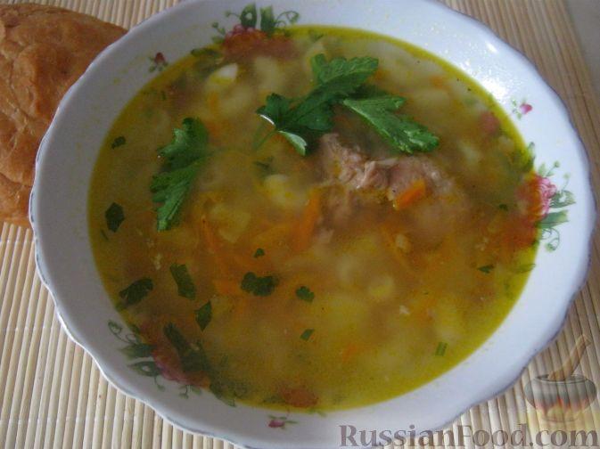 """Фото приготовления рецепта: Суп из тушенки """"20 минут"""" - шаг №11"""