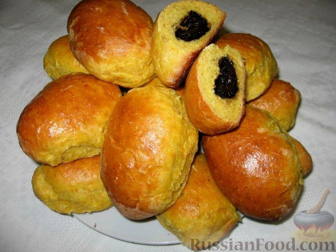 Рецепт Пирожки из тыквенного теста с ореховым вареньем