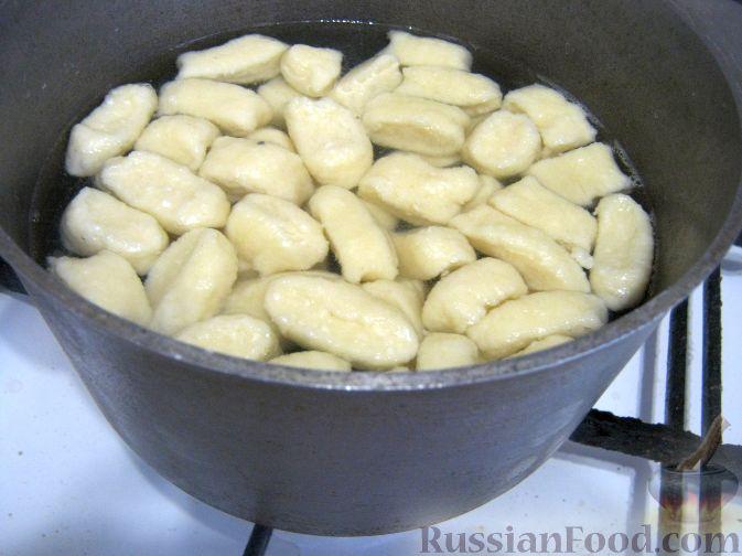 Галушки со шкварками рецепт с фото