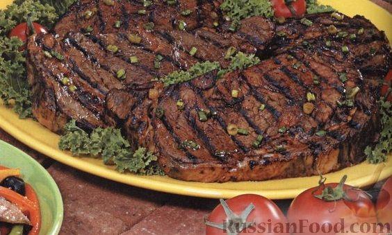 Рецепт Говяжьи стейки в имбирном маринаде