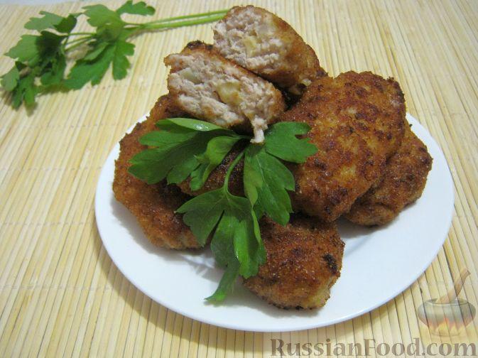 Рецепт Котлеты куриные а-ля «Пожарские» с сыром
