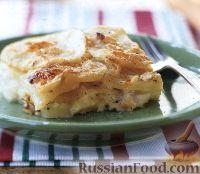 Фото к рецепту: Картофель, запеченный с голубым сыром