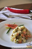 Фото к рецепту: Салат «Настоящий французский оливье»