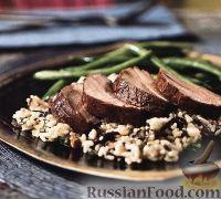 Фото к рецепту: Свиное филе под гранатовым соусом