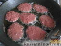 Фото приготовления рецепта: Котлеты из говяжьей печени - шаг №8