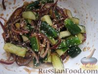 Фото приготовления рецепта: Огурчики по-корейски - шаг №10