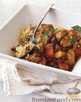 Фото к рецепту: Рагу из курицы с тыквой и черносливом