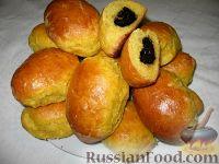 Фото к рецепту: Пирожки из тыквенного теста с ореховым вареньем