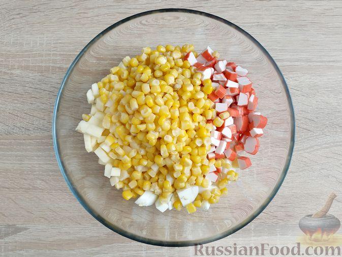 Фото приготовления рецепта: Сырный суп с шампиньонами и консервированной кукурузой - шаг №13