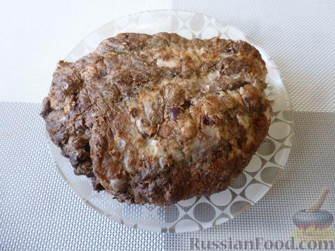 """Фото приготовления рецепта: Буженина """"Мясное ассорти"""" (из свинины, говядины и курицы) - шаг №20"""