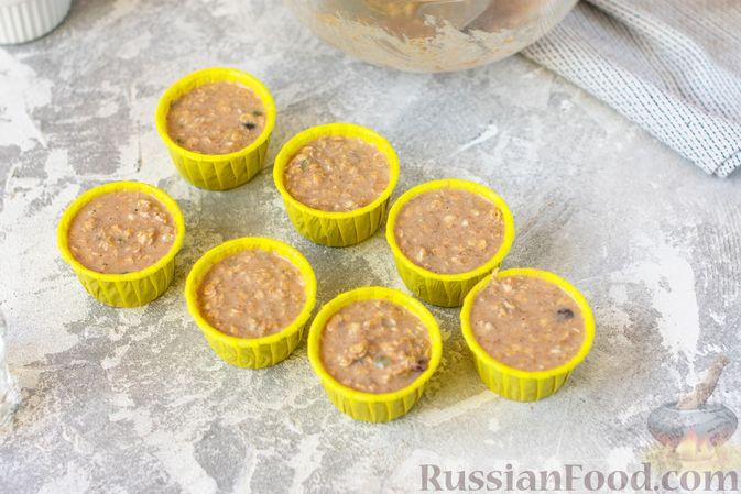 Фото приготовления рецепта: Овсяные кексы с семечками и клюквой - шаг №7