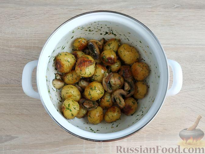 Фото приготовления рецепта: Несладкий картофельный хворост - шаг №15