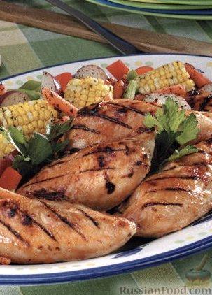 Рецепт Куриные грудки, приготовленные на гриле
