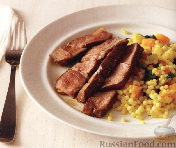 Рецепт Жареная ягнятина с кус-кусом