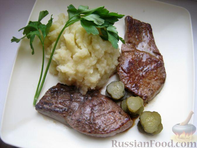 Рецепт Говяжий стейк, зажаренный на сковороде