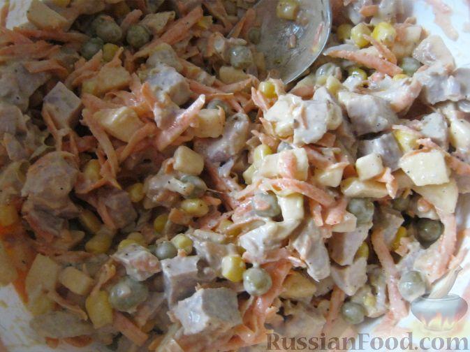 Салаты из свинины вареной рецепты с